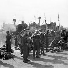 Place - Falmouth became a safe haven for troops and refugees. Boats would arrive filled with as many soldiers and civilians as possible. These soldiers arrived in 1940 after being evacuated from France. Falmouth Town, Falmouth Cornwall, Troops, Soldiers, Safe Haven, British Army, The Locals, United Kingdom, France