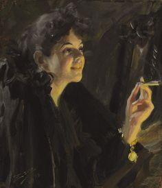 Anders Zorn, The Cigarette Girl, 1892 on ArtStack #anders-zorn #art