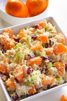 Uninspired by the leftover rotisserie chicken in your fridge? Fix up a fast, RD-approved chicken salad with a special guest star: mandarins. Rotisserie Chicken Salad, Leftover Rotisserie Chicken, Chicken Salad Recipes, Recipes With Mandarin Oranges, Mandarin Orange Salad, Mandarin Chicken, Orange Chicken, Mandarine Recipes, Chicken Salad Dressing