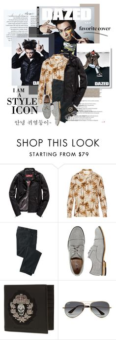 """2016.102: T.O.P"" by oh-pororo ❤ liked on Polyvore featuring Balmain, Superdry, Yves Saint Laurent, TravelSmith, X-Ray, Alexander McQueen, Ray-Ban, Cutie, men's fashion and menswear"
