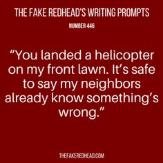 TFR's Writing Prompt 446