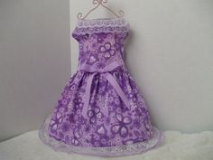 small purple dress with butterfly print by chicdoggieattire, $12.00