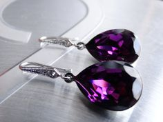 Hey, I found this really awesome Etsy listing at https://www.etsy.com/listing/97021733/purple-earrings-amethyst-earrings