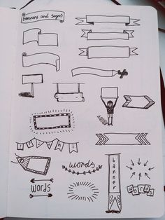Study Notes, Bullet Journal and Note Bullet Journal Images, Bullet Journal Banner, Bullet Journal Inspiration, Bullet Journals, Bullet Journal Headings, Cute Notes, Pretty Notes, Visual Note Taking, Taking Notes