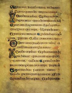 Bird Song In The Forest. A page from the Book of Kells. (circa 800)