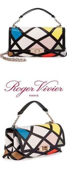 Roger Vivier | Prismick Mini Bauhaus Shoulder Bag, Multicolor #rogervivierbag
