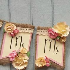 Handmade Banner - Custom made - Burlap Floral Lace name banner Birthday , baby… Handmade Baby, Handmade Gifts, Garden Baby Showers, Birthday Garland, Banner Ideas, Shower Base, Name Banners, Floral Lace, Custom Made