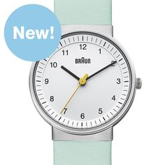 Braun BN0031 (white/mint) watch by Braun. Available at Dezeen Watch Store: www.dezeenwatchstore.com