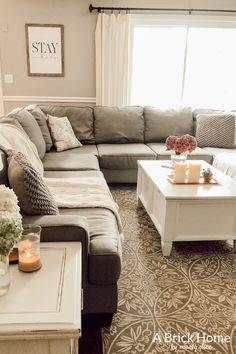 Ashley Furniture Sectional Review: My Thoughts on our Most-Used Couch - A Brick Home by Marly Dice Living Room And Dining Room Design, Living Room Sectional, Cozy Living Rooms, Home Living Room, Living Room Designs, Dream Furniture, Couch Furniture, Living Room Furniture, Office Furniture