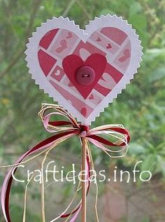 Mother's Day or Valentine's Day Craft Idea - Paper Heart Plant Poke