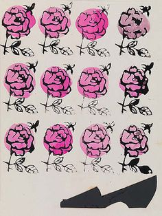 Shoe and Roses, Andy Warhol