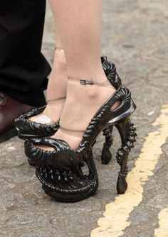Alexander McQueen, 2010 http://www.buzzfeed.com/angelamv/the-18-most-horrifically-uncomfortable-pairs-of-shoes-ever-m