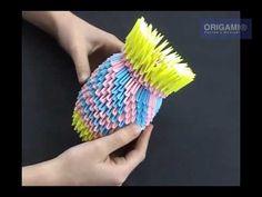 Ваза оригами - YouTube