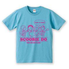 『スクービーのFUNKY MELLOWな仲間たち』 KIDS Tシャツ(Aqua Blue × Pink)