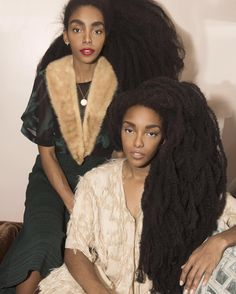 No extensions. Self grown Afro hair. Ethnic Hairstyles, African American Hairstyles, Afro Hairstyles, Nice Hairstyles, Long Natural Hair, Be Natural, Quann Sisters, Curly Hair Styles, Natural Hair Styles