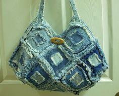 Recycled denim purse