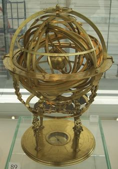 Armillary Sphere by LadyVenovel Photography / Other©2010-2013 LadyVenovel by Gualterus Arsenius, Louvain, 1568 This is a so-called Ptolemaic or earth-centered armillary sphere. Armillary spheres were used as teaching tools and, sometimes, to aid astronomical calculations. Around the central Earth are rings that represent the main celestial circles. Off these circles, there are pointers marking the positions of key stars.