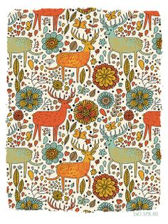 this pattern is a little funky and a little fun with a great palette of colors - Julia Grigorieva