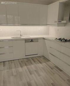 Mutfak, Beyaz mutfak, Mutfak tadilat, Modern mutfak, Laminant parke