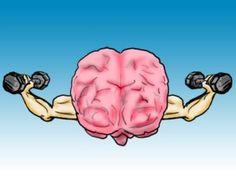 Bij deze prent dacht ik aan de titel van het boek. IQ 140 hebben is eigenlijk gespierde hersenen hebben. Het lijkt wel of de hersenen getraind hebben om zo'n IQ te krijgen.