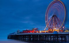 Blackpool was so popular during the Victorian period that three piers were built. The most famous is probably the Central Pier, which has a ferris wheel adorning it. Picture: Jason Friend Photography Ltd / Alamy Blackpool England, Port Angeles, God Loves You, Great British, One Pic, Places To Travel, Seaside, Scenery, Friend Photography