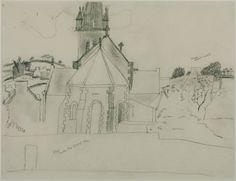 Christopher Wood 'Study for 'Church at Tréboul'', c.1929–30