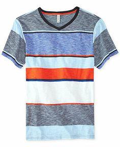Univibe Scope Striped V-Neck Tee - Tees & Tanks - Men - Macy's