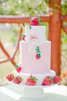 strawberry wedding cakes | Strawberry Wedding Cake 275x412 Wedding Inspiration: Berries