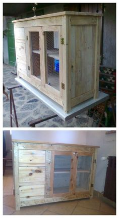 Cabinet with 3 drawers made from pallet wood. More information at Wooden Pallet Furniture website ! Idea sent by Hrvoje Saban ! #Cabinet, #Pallets, #Recycled