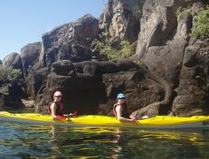 Kayaking out to the Maori Carvings on Lake Taupo - this is the small Carvings! The bigger one is 10m tall!