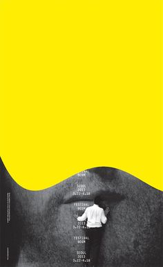 Grafik, Design, Pattern Festival Bo: m Poster by Emilio Ferrer: Using Incense to Save on Your Layout Design, Design De Configuration, Graphisches Design, Book Design, Cover Design, Print Design, Shape Design, Design Trends, Design Ideas