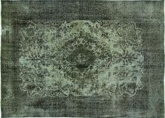 Unique 8x12 Blue/Gray Overdyed Wool Hand Knotted Tabriz Oriental Area Rug H7677