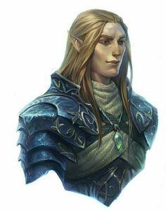 Elf Oracle - Pathfinder PFRPG DND D&D d20 fantasy