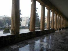 Bouncing rain in Corfu Town