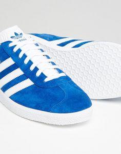 93702d8247706 adidas Originals Gazelle trainers in blue s76227 at asos.com