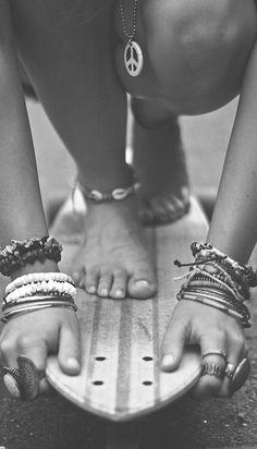 skater girl bracelets #skateboarding longboarding girl #jewelry