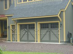 Wood Carriage Style Garage Doors Offered By VAULT® By Vaultgarage, Via  Flickr