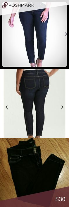 Torrid Jeggings NWOT These are classic dark wash high-rise jeggings in size 18 regular.   They are brand new without tags.  I am re-Poshing as they are too small on me. torrid Jeans Skinny