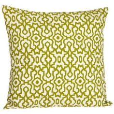 Tommy Bahama Island Botanical Decorative Pillow...thinking of switching out pops of red for a bright springy green