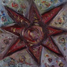 StarPixel (2004) by #OUBEY. #painting #artist #art #artlove #instaart #artoftheday #artstagram #Kunst #followart #colors #colorful #bunt #star #Malerei #zoomed #pixel #painted #Stern #red #rot