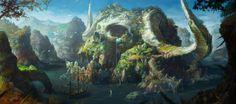 The hidden island of dead giant, hee uk Jung on ArtStation at https://www.artstation.com/artwork/3aOOA