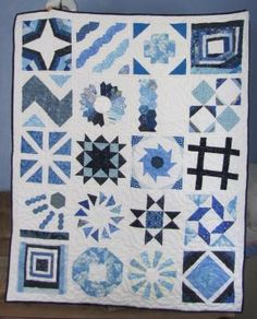 Same pattern, but different fabrics.  This is Craftsy block of the month class --2012