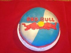 Cake I made for employee that loves to drink red bull!