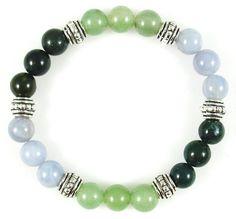 Chakra pulsera mezclan las piedras preciosas perlas elástico Stretch corazón tíbet Ø 8 mm