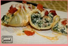 jumbo shells stuffed with turkey Jumbo Shells Stuffed, Spinach Stuffed Shells, Spinach Ricotta, Cooking For A Crowd, Turkey Sausage, Main Meals, Fresh Rolls, Healthy Recipes, Healthy Foods