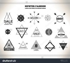 Set Of Hipster Vintage Line Flat Retro Labels, Stamps, Signs, Marks And…