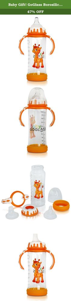 Baby Gift! GoGlass Borosilicate 10 oz Glass Baby Bottle BPA Free With Included Nipple and Sippy Cup Spout - Best Feeding Bottles For Preemie, Newborns, Infants, and Toddlers Shower Gifts (Orange). It's all about Jack... My wife and I decided to use glass, after investigating numerous reports on how harmful chemicals leach into your drinks with plastic bottles and containers. Even BPA free plastics, which quickly became popular, were replaced with other chemicals that were just as harmful....