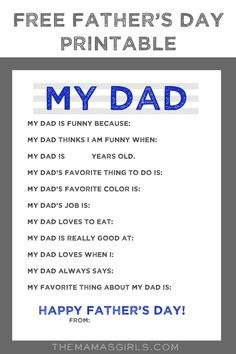 b3f73504 Free Father's Day Printable! DADS will LOVE this! Daddy Gifts, Gifts For Dad