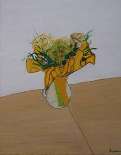 Original Still Life Painting by Martina Gasp Painted Vases, Yellow Roses, Still Life, Saatchi Art, Original Paintings, Canvas Art, Fine Art, Portrait, Art Art