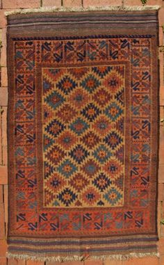 "Excellent condition (amazingly good for a "" Baluch "" genre rug). It is x x Finely woven, thin, floppy, good age, lots of good colors. Tribal Rug, Rugs, Magic Carpet, Asian Rugs, Carpet, Carpet Handmade, Rugs On Carpet, Woven, Persian Rug"